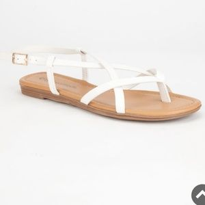Mossimo White Strappy Sandles